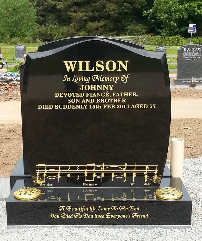 Granite Belfast Memorial Headstone Northern Ireland
